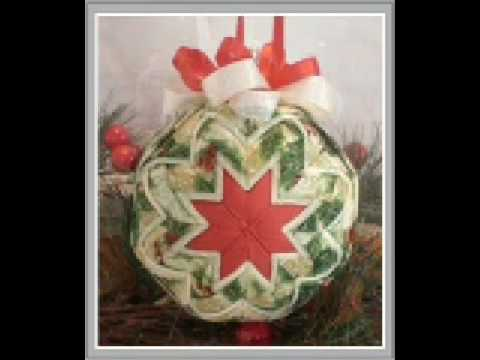 Handmade Quilted Fabric Ornaments Youtube