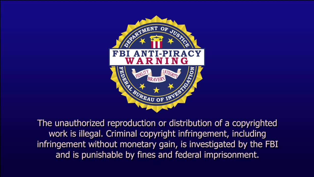 fbi antipiracy warning 1080p youtube