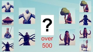 ALL UNITS OVER 500 TOURNAMENT - Totally Accurate Battle Simulator TABS
