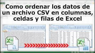 Poner en columnas los datos de una hoja de cálculo CSV en #Excel