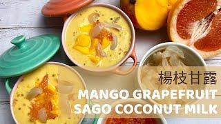 Mango Grapefruit Sago Coconut Milk|楊枝甘露|망고 자몽 시미루|マンゴーサゴポメロデザート