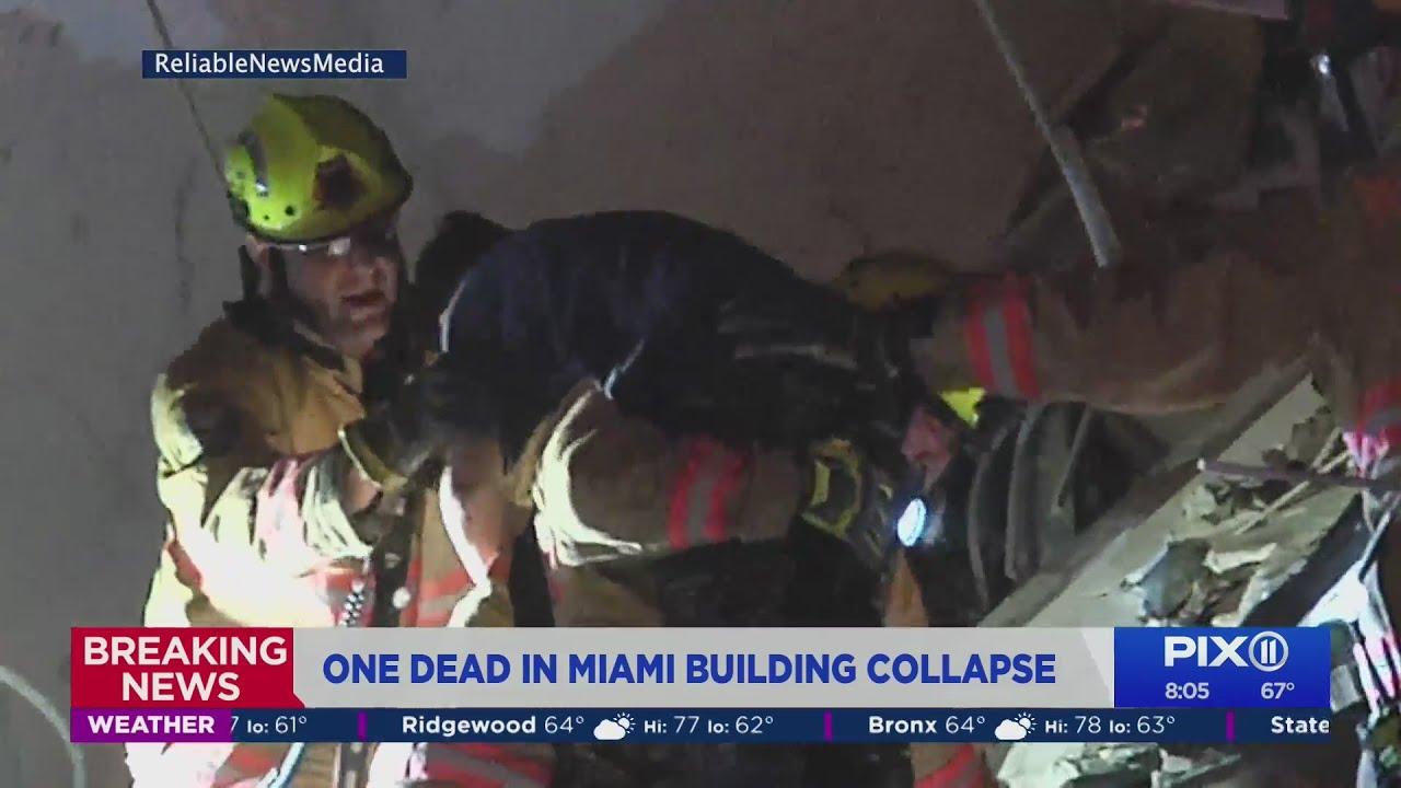 Miami-area condo collapses; 1 dead; rescue mission underway