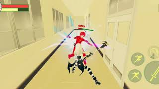 Schoolgirl simulator sword fighting with both character