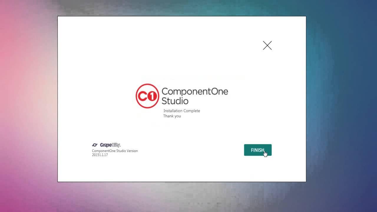 Como instalar ComponentOne 2015