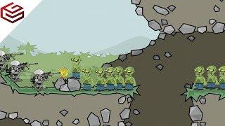 DA2 MiniMilitia Deadly Zombies vs Futuristic Robots   Dramatic Gameplay