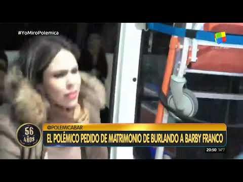 Insólito pedido de matrimonio de Fernando Burlando a Barby Franco