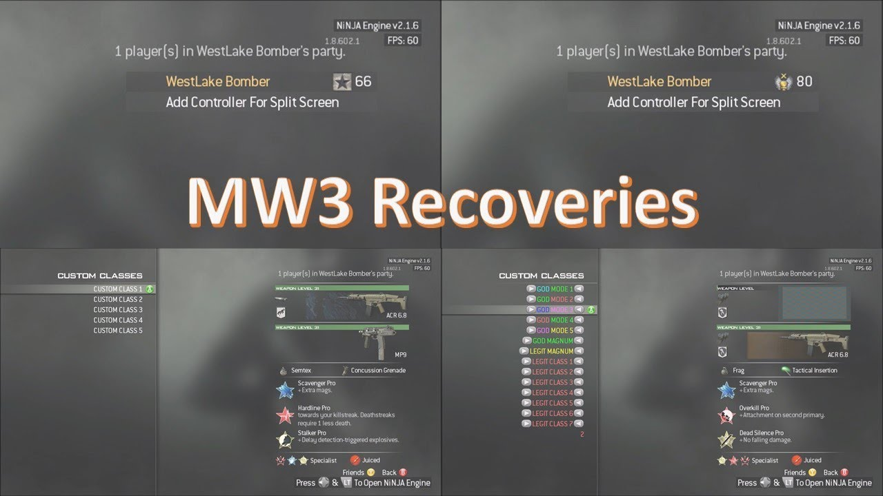 MW3 RECOVERY FOR @ImWro