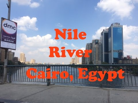 Walking along the Nile in Cairo, Egypt