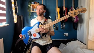 It's FINALLY here! | Squier Affinity Jaguar H Bass Unboxing/Tone Test