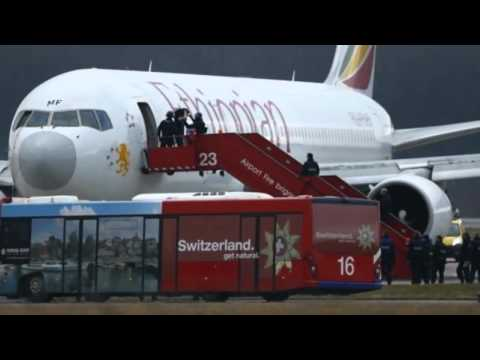 Ethiopian Airlines Flight 702 Hijacked   Forced To Land In Geneva   17 Feb 2014 MUST SEE