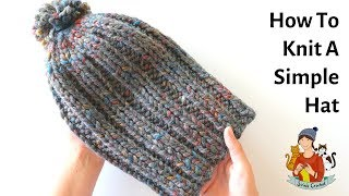 How To Knit A Simple Beginner Hat