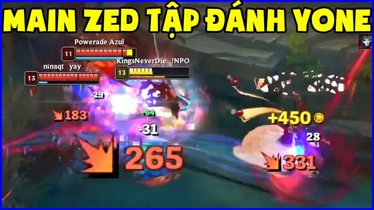 Thói quen khó bỏ của main Zed trong ngày đầu tập đánh Yone, Tốc biến chưa bao giờ vô dụng đến thế
