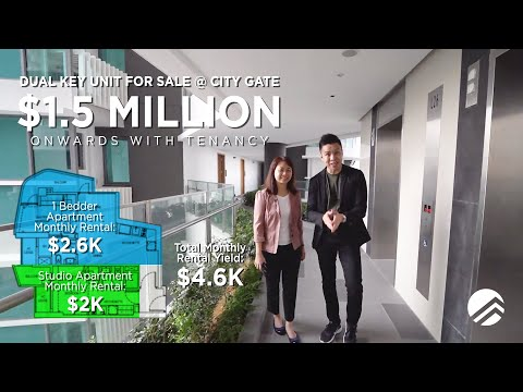 City Gate, 678sqft, 2-Bedder Dual Key, Singapore Condo Property for Sale with PropertyLimBrothers
