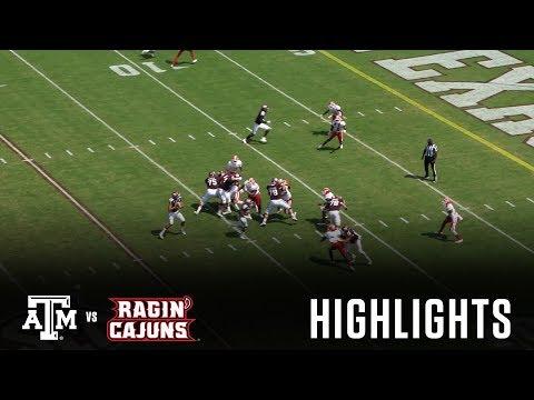 Football Highlights   Texas A&M vs. Louisiana