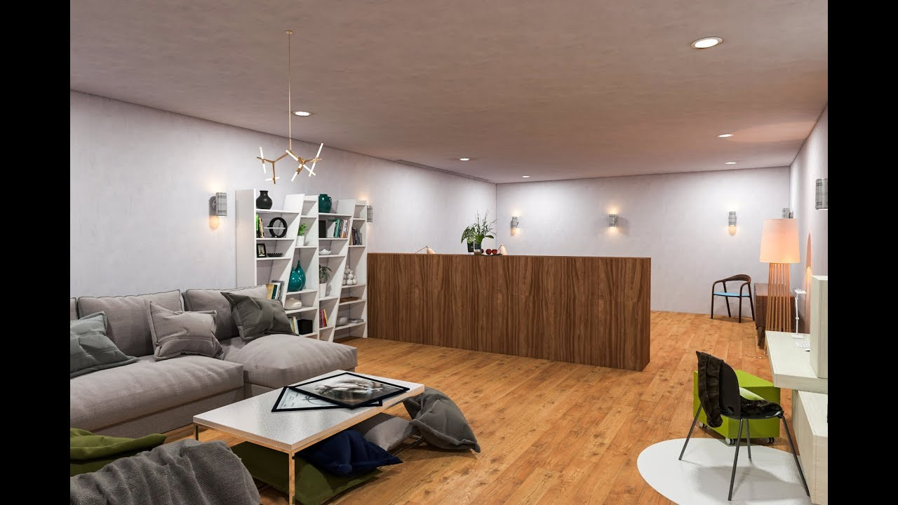 Lighting Basement Washroom Stairs: Vray 3ds Max Interior Room Lighting And Rendering