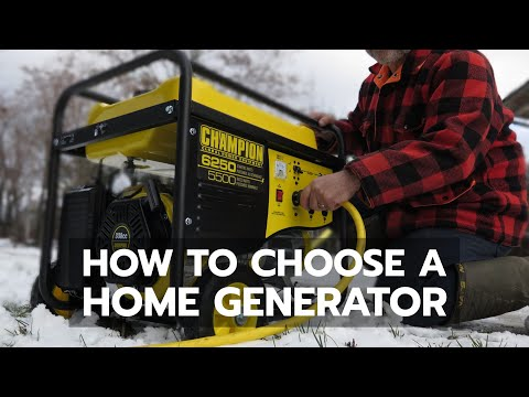 HOME GENERATOR: How to Choose Wisely