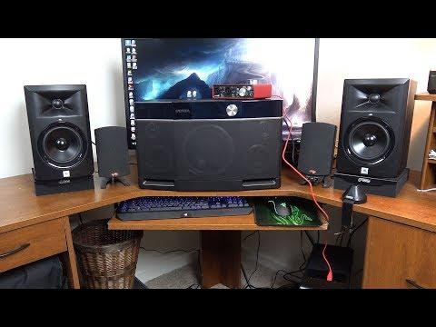 JBL LSR305 vs  Aiwa Exos 9 vs  Klipsch Promedia 2 1 speakers