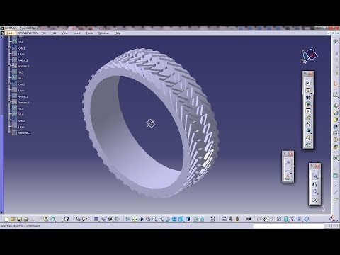 Catia V5 Tutorial|Automotive Engineering Design|How Create a Tyre(Easy Steps Beginners)|Part 1