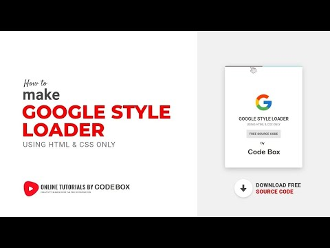 Google Style Loader HTMl & CSS By Code Box