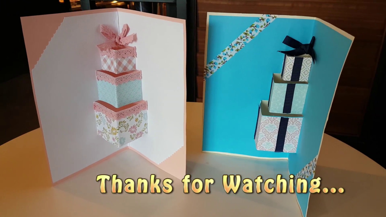 DIY1 3D Pop Up Gift Boxes Birthday Card Idea To Your Girls And Boy Friends