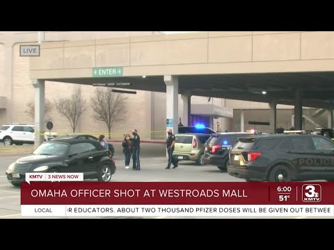 Omaha  Police Officer Shot at West Roads Mall