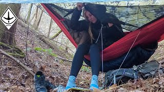 Winter Backpacking 100 MiĮes With A Hammock