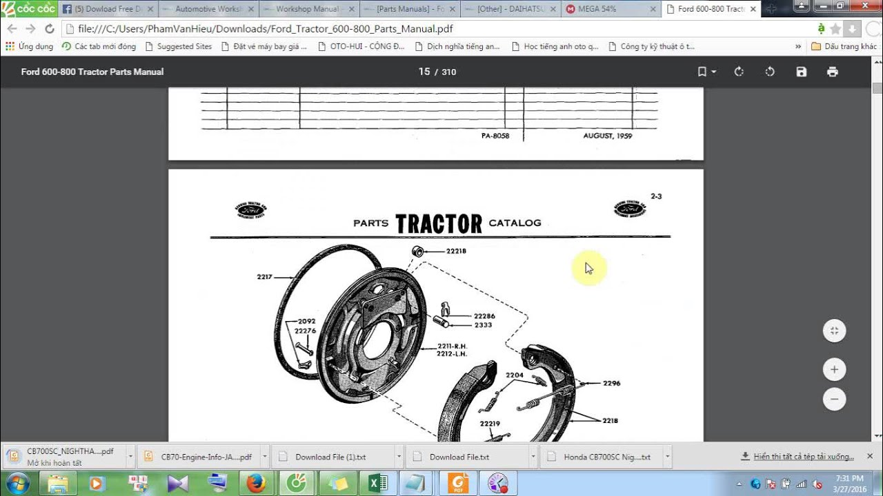 hight resolution of ford tractor 600 800 parts manual