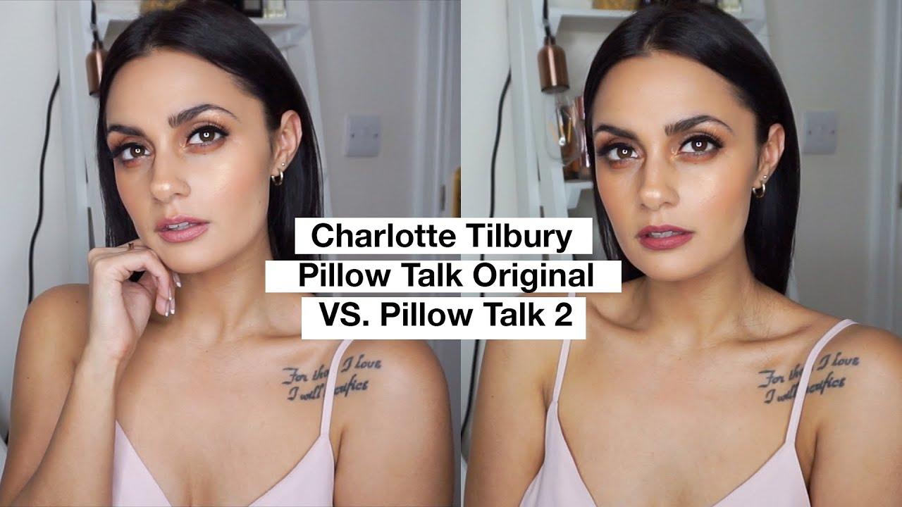 charlotte tilbury pillow talk original vs pillow talk 2 the comparison