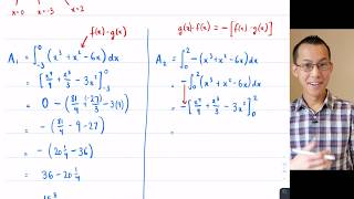 Curves with Multiple Crossings (2 of 5: Combining areas between polynomials)