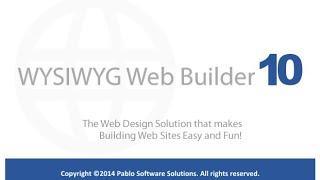 Создание сайтов в программе Web Builder 10 (Урок 1 - обзор программы)