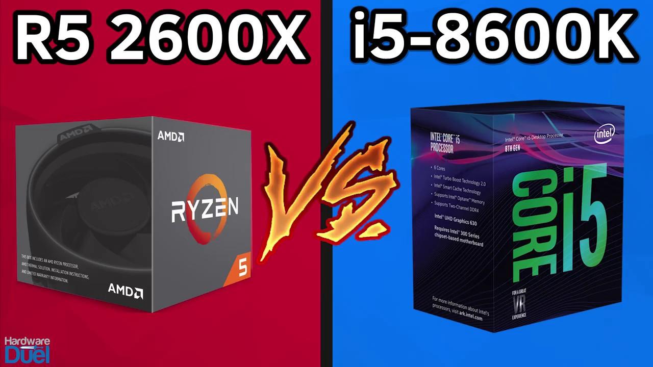 Ryzen 5 2600X vs Core i5 8600K - Full Benchmarks Comparison - YouTube