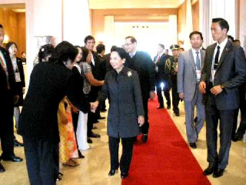 Welcoming Her excellency PGMA at Shilla hotel ,Jeju korea