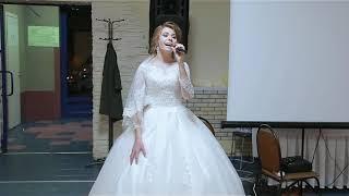 Невеста поет жениху на свадьбе, рэп) растрогала жениха до слез)