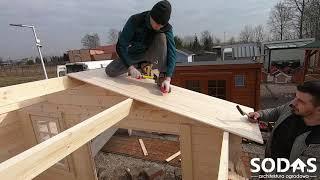 Szczegółowy montaż domku drewnianego 3,5x3,0m (Instrukcja montażu)