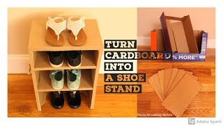 Make a Shoe Stand from Cardboard box