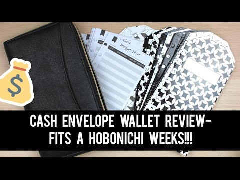 Cash Envelope Wallet Review! | $21 On Amazon! | FITS HOBONICHI WEEKS!
