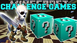 PopularMMOs Pat and Jen Minecraft SKULL OF DOOM CHALLENGE GAMES Lucky Block Mod Mini Game