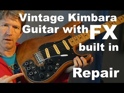 Kimbara fresher straighter fs-1007 electric guitar with built in effects repair MF#82