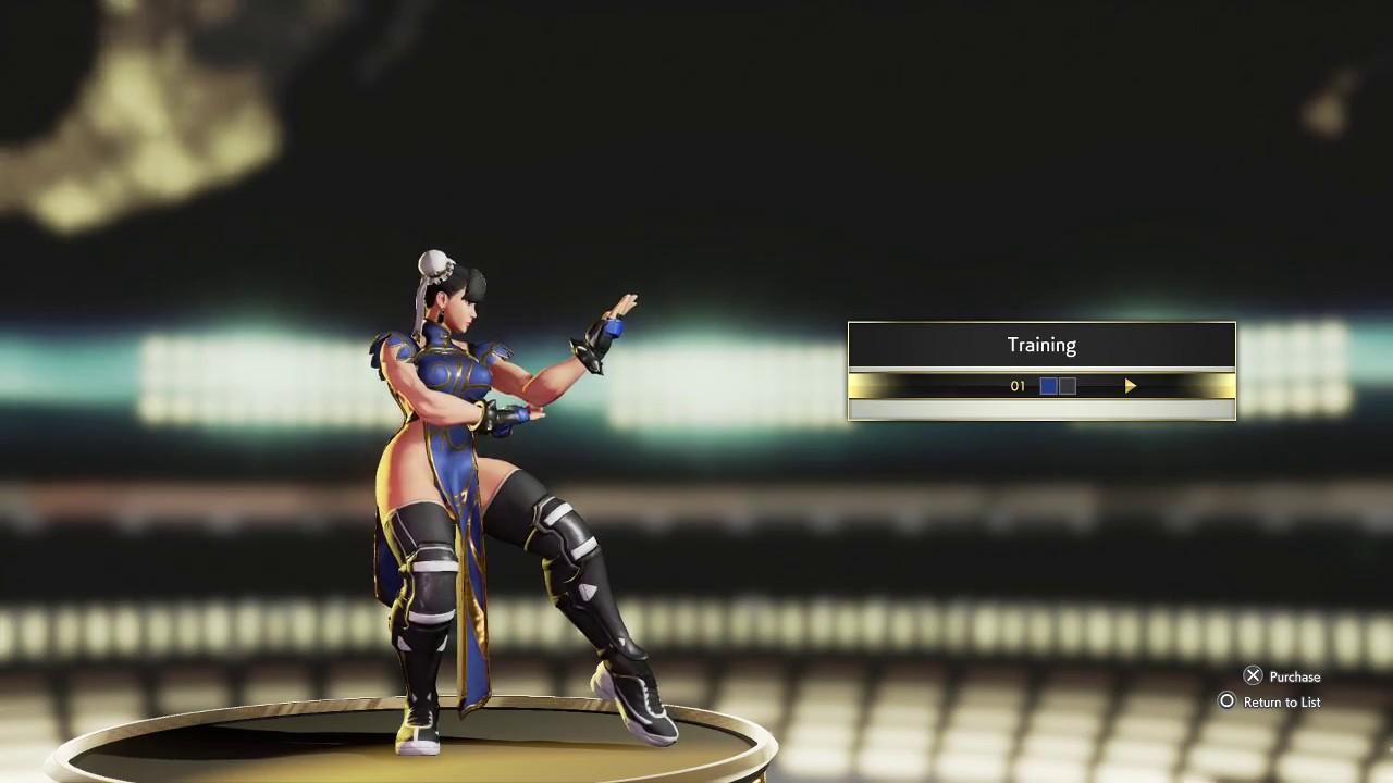 chun li street fighter 5 outfits