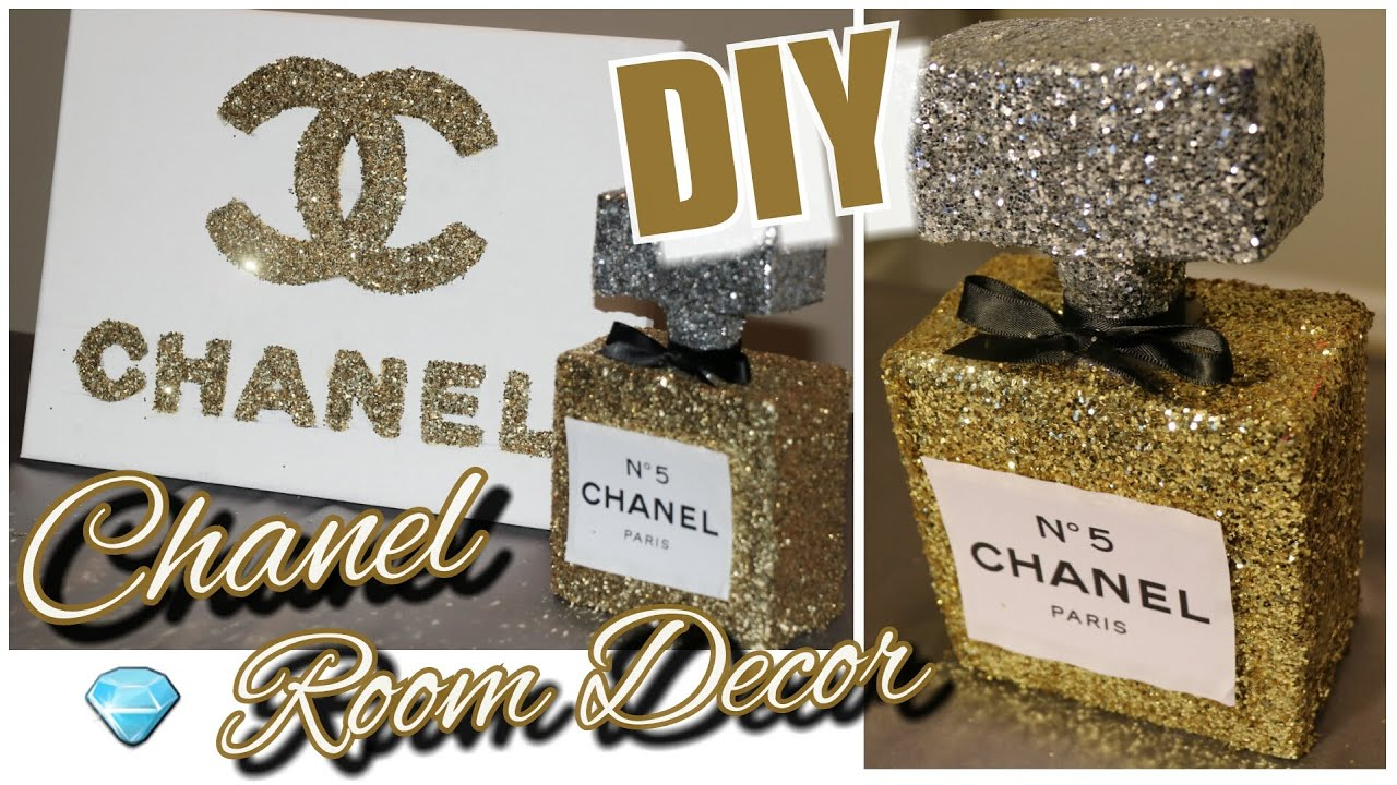 Diy Chanel Perfume Bottle Room Decor Chanel Canvas Wall