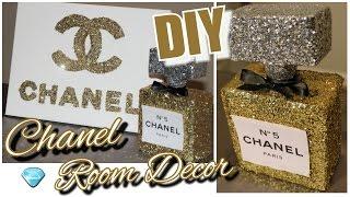 DIY Chanel Perfume Bottle Room Decor & Chanel Canvas Wall Decor| Tumblr Inspired Chanel