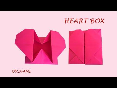 Heart box - Fun DIY easy origami love | Thanks Giving craft