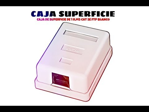 Video de Caja de superficie de 1 RJ45 Cat 5e FTP  Blanco