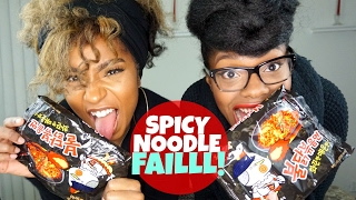Spicy Food Challenge FAIL : Hilarious Spicy Noodles FAIL