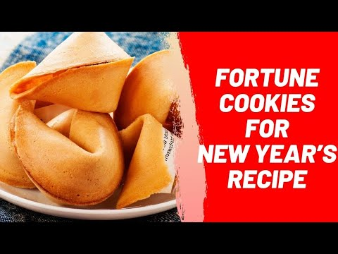 Fortune Cookies for New Year's Recipe