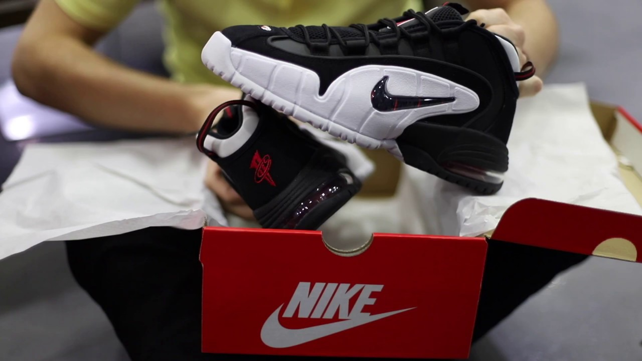 2019 More Nike Air Max Penny 1 White Metallic Silver Mens