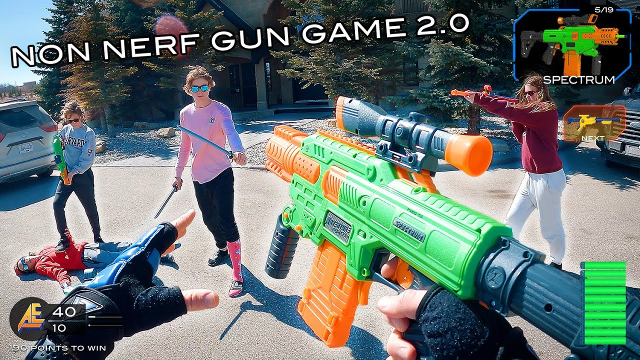 NERF GUN GAME | NON NERF EDITION 2.0 (First Person Shooter!)