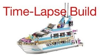 Time-lapse Build Of Lego Set #41015 Dolphin Cruiser