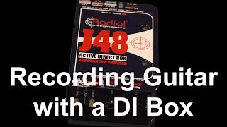 Recording Electric Guitar with a DI Box