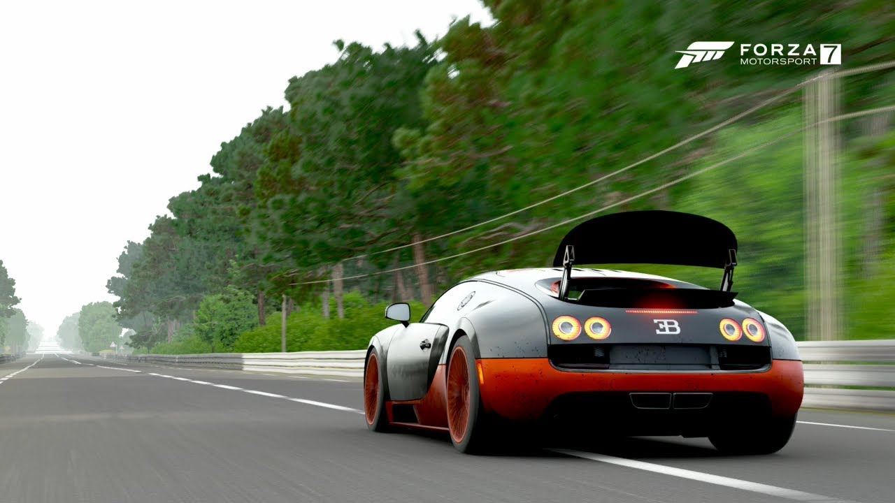 Forza 7- 2011 Bugatti Veyron SS Top Speed [262mph] - YouTube